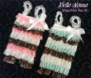 shoulder straps & bow Multi Color Pink Brown White Aqua Baby Girl