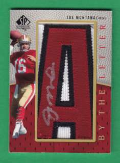 2007 SP Authentic #BTL JM Joe Montana Autograph San Francisco 49ers