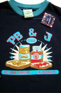 TINY BUBBAS BOYS SIZE 4 YR SHIRT PB & J NEW NWT BOUTIQUE