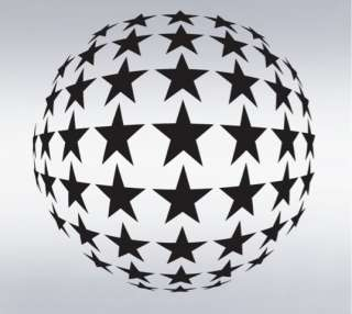 Vinyl Wall Decal Sticker BIG Circle of Stars Disco