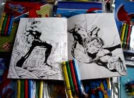 12 Superman Coloring Book & 48 Crayon Party Activities