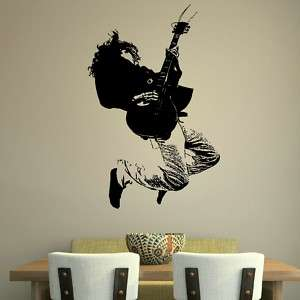 GUITAR MUSIC WALL GRAPHIC DECAL STICKER giant stencil vinyl mural RA41