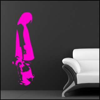 BANKSY CHAINED TEDDY GIRL VINYL WALL ART STICKER DECAL