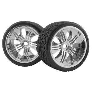 HPI Racing Mntd Phaltline Tire/Tremor Chrome Wheel Toys