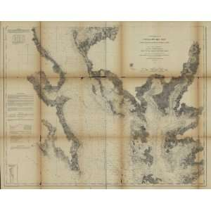 : 1862 Civil War map: Nautical charts Chesapeake Bay: Home & Kitchen