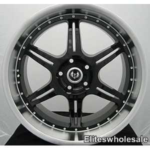 18x9.5 Black Stern ST2 5x112 crossfine rim wheel audi