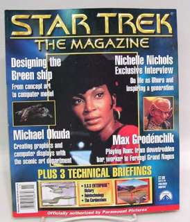 Nov 1999 STAR TREK Magazine w/ NICHELLE NICHOLS, Max Geodenchik and