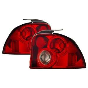 95 99 Dodge Neon Red/Clear Tail Lights Automotive