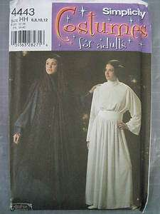 STAR WARS LEIA PADME COSTUME PATTERN SIMP 4443 0577