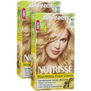 Garnier Nutrisse Level 3 Permanent Hair Creme, Light Golden Blonde 93