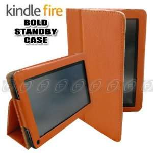 CaseNinja (Orange) PU Leather Folio Case Cover for