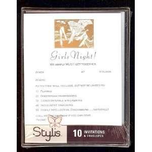 Invitations 10 Foil Stamped Cards/envelopes Health