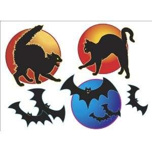 Piece Halloween Cats and Bats   Vinyl Wall Art Decals