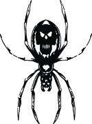 SKULL SPIDER #61 HOOD DECAL GRAPHIC CAR TRUCK SEMI SUV