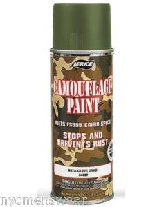 OLIVE DRAB MILITARY CAMOUFLAGE SPRAY PAINT
