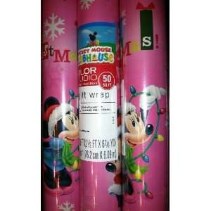 Hallmarks Disney Mickey Mouse Clubhouse MINNIE Christmas Gift Wrap 50