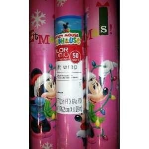 Hallmarks Disney Mickey Mouse Clubhouse MINNIE Christmas Gift Wrap 50