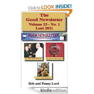 The Good Newsletter Volume 23   No. 1: Bob and Penny Lord, Brother