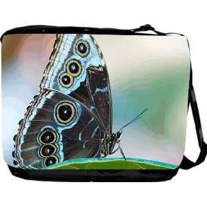 Rikki KnightTM Green Butterfly Messenger Bag   Book Bag