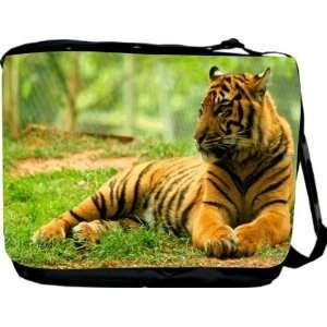 Rikki KnightTM Orange Tiger Messenger Bag   Book Bag