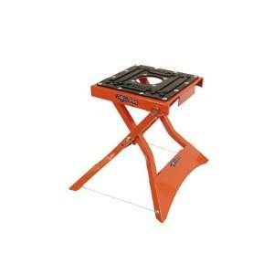 FOLDING X LIFT STAND ORANGE DIRT BIKE DIRTBIKE MOTOCROSS