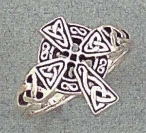 Sterling Silver Celtic Cross Ring Sizes 6 12