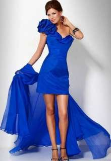 Blue Chiffon Party Prom Gown Bridesmaid Evening Dress Size♥