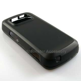 Black Rubberized Hard Case Snap On Cover For Nokia N97