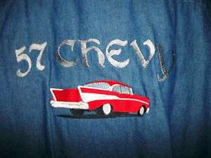 Jean Shirts Machine Embroidered Chevy Pin Up Girl Girls