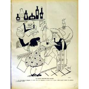 LE RIRE FRENCH HUMOR MAGAZINE LADIES BAR MAN SMOKING: Home & Kitchen