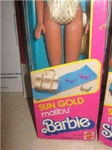 VINTAGE BARBIE 1983 SUN GOLD MALIBU BARBIE AND SKIPPER NRFB MINT