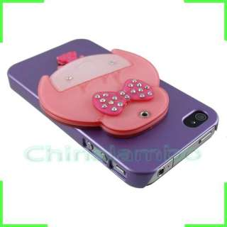 Lovely Mirror Internal Design Bling Diamond Skin Case Cover For iPhone