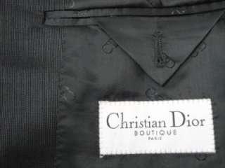 CHRISTIAN DIOR PARIS Dark Gray 3Btn Wool Silk Blazer 40R MINT