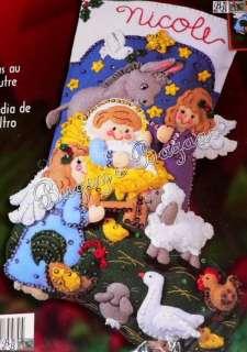 Bucilla BABY JESUS Nativity Felt Christmas Stocking Kit