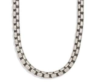 Sterling Silver Oxidized Extra Large Box Chain Necklace