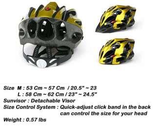 BICYCLE HERO BIKE HELMET CYCLING INLINE SCATE Yellow M