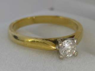 CLASSIC 18CT YELLOW GOLD DIAMOND SOLITAIRE RING