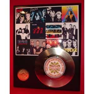 Police 24kt Gold Record LTD Edition Display ***FREE PRIORITY SHIPPING