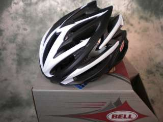 NEW 2011 BELL VOLT CYCLING HELMET MAT BLACK WHITE MED
