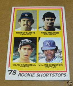 1978 TOPPS ROOKIE SHORTSTOPS BASEBALL PAUL MOLITOR