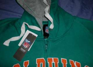 Miami Dolphins Hoodie 3XL Stitched Full Zip NFL Specialty Double Logos