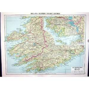 Cassell Antique Map 1920 Ireland Connemara Dingle Bay