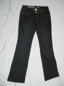 MOSSIMO SUPPLY CO blue jeans size 5 L long boot cut 28 x 34 denim NEW