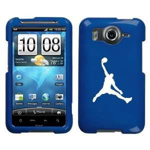 HTC INSPIRE 4G WHITE AIR JORDAN LOGO ON A BLUE HARD CASE