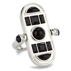 Belle Noel Egyptian Silver Spinner Ring, Size 6: Jewelry
