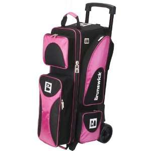 Brunswick Flash 2 Ball Roller Pink/Black Sports