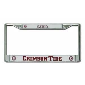 Alabama Crimson Tide Script A with Circle Chrome Frame