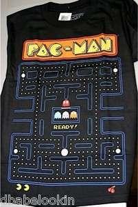 PAC MAN GAME SCREEN BLACK BOYS T SHIRT SIZE 16 18