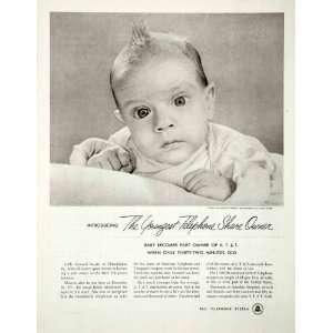 1952 Ad ATT&T Bell Telephone System Leonard A. Snyder Baby