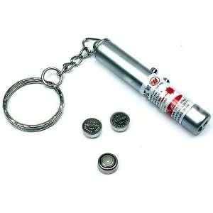 in 1 Mini Keyring Red Laser Pointer Pen + LED Light Electronics
